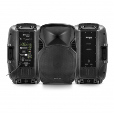 Kit Caixa de Som PW 600 Wireless Ativa + Passiva Bluetooth 1200W RMS