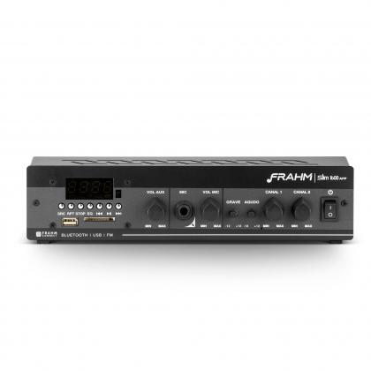 Amplificador - Receiver para Som Ambiente Frahm  SLIM 1600 APP