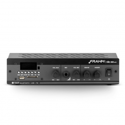 Amplificador - Receiver para Som Ambiente Frahm SLIM 1800 60W